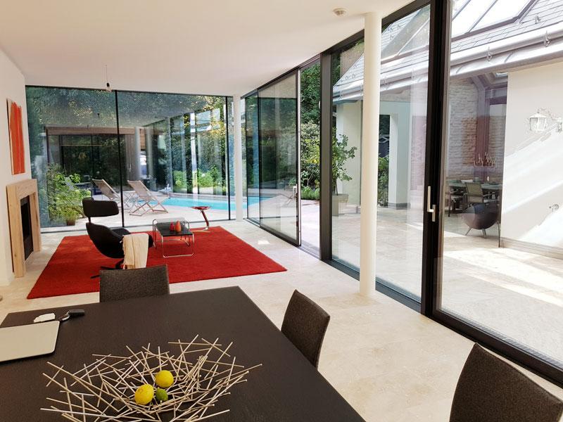modernes Atriumhaus